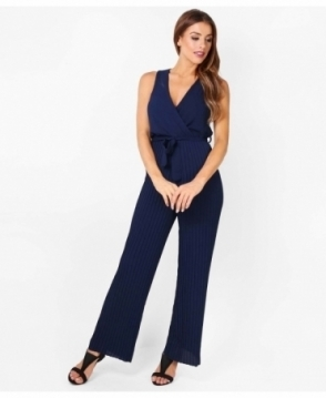 KRISP Pleated Leg Wrap Front Jumpsuit