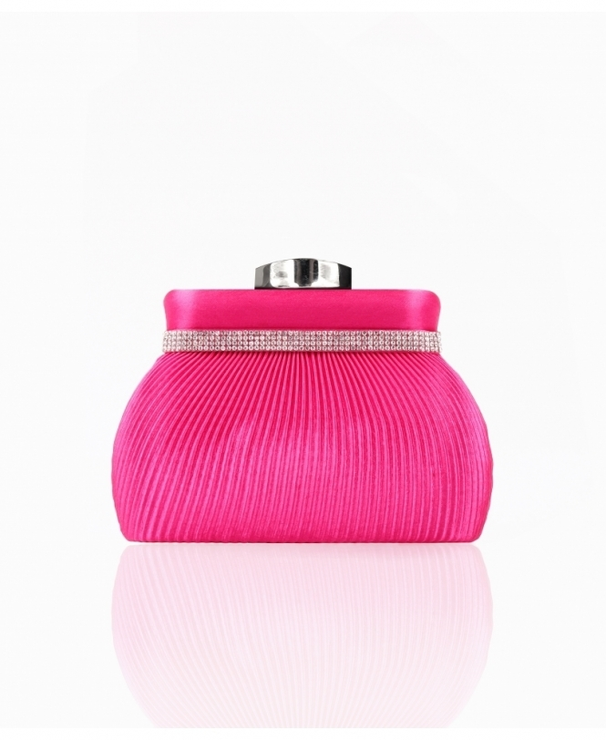 KRISP Pleated Satin Small Evening Clutch