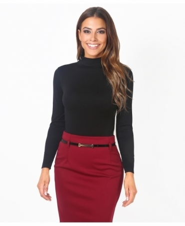 Polo Neck Long Sleeve Bodysuit