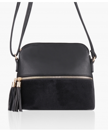 PU/Corduroy Cross Body Bag