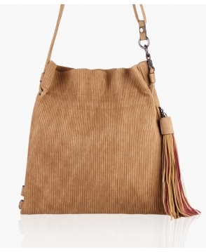KRISP Ribbed Drawstring Bucket Bag