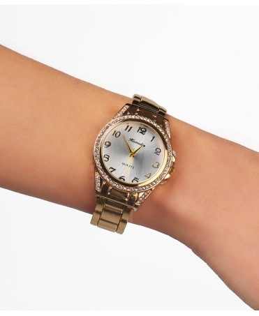 Ridge Bangle Round Face Watch