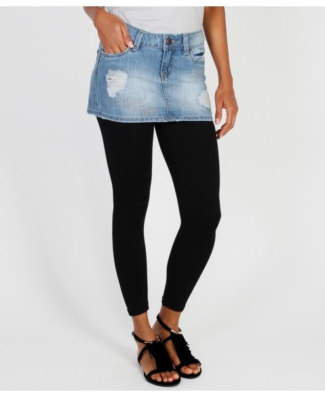 Jean Mini Skirt With Leggings: Shop For Womens Denim Mini Skirts