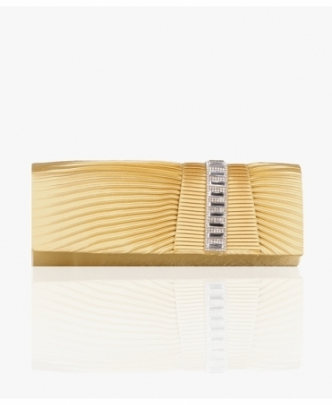 Ruched Satin Evening Clutch