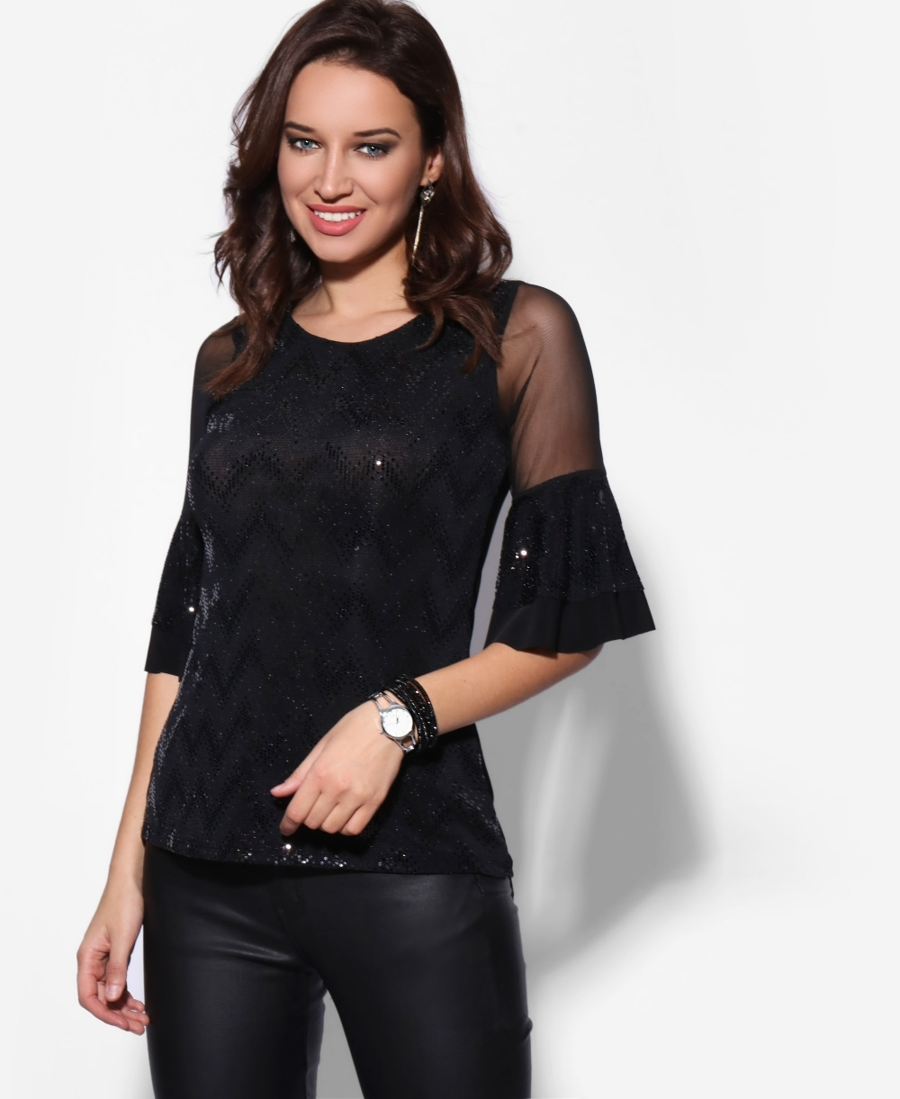 New Look Women/'s Cut Out Shoulder Long Sleeve Top UK10 459