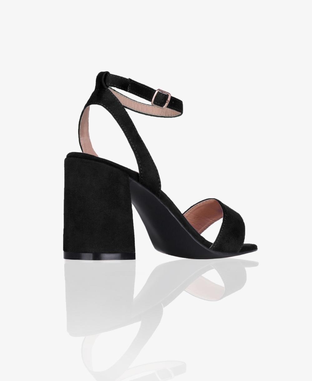 0ec967c3ac3 Satin Wrap Block Heel Sandals