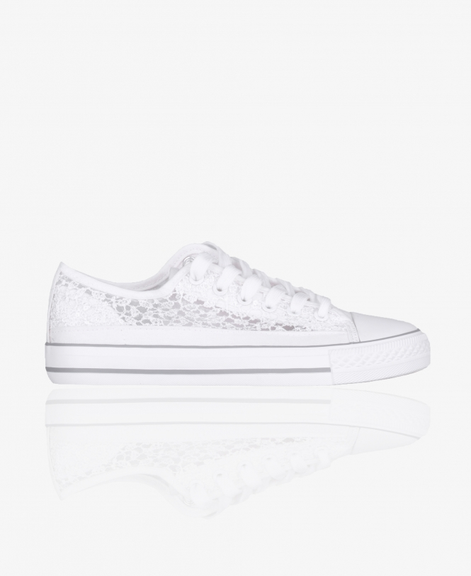 KRISP Sequin Embroidered Low Top Trainers