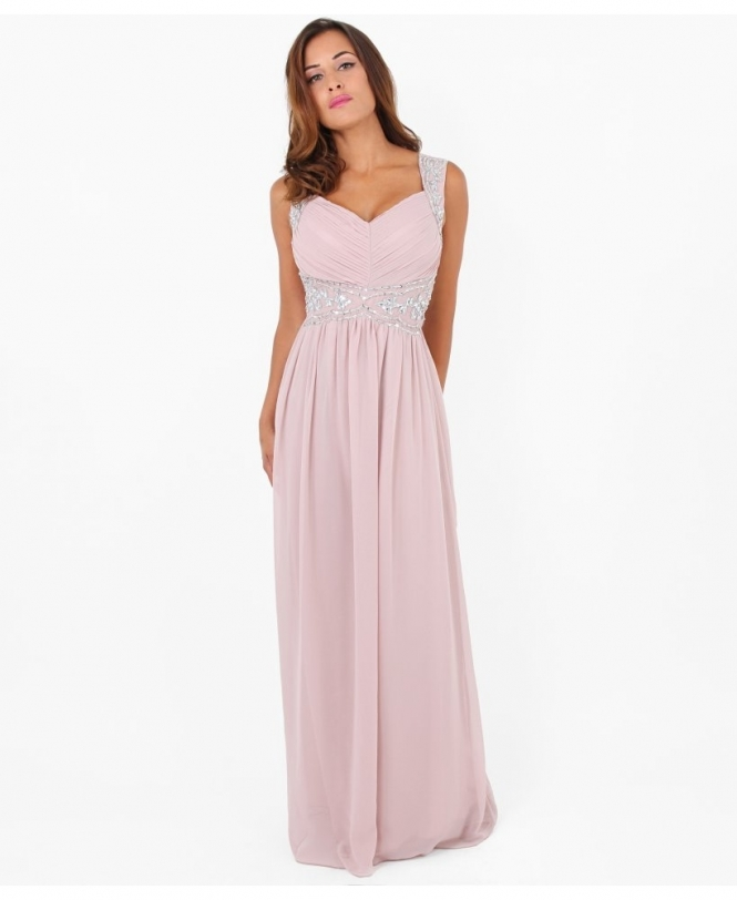 KRISP Sequin Empire Line Maxi Dress