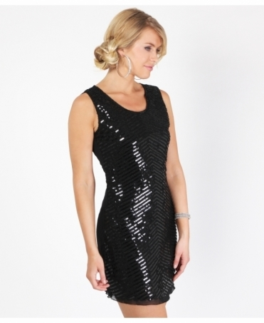 Sequined Front Shift Party Dress