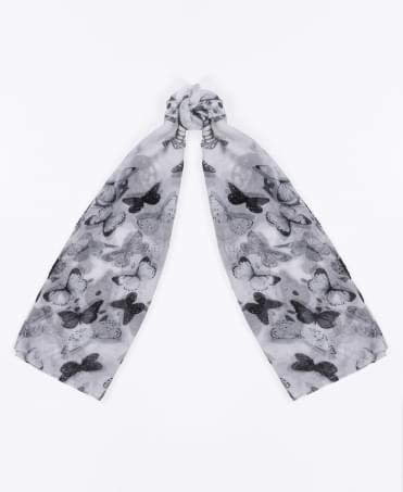 Sheer Butterfly Print Summer Scarf
