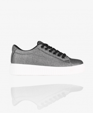 Shiny Lurex Creeper Trainers
