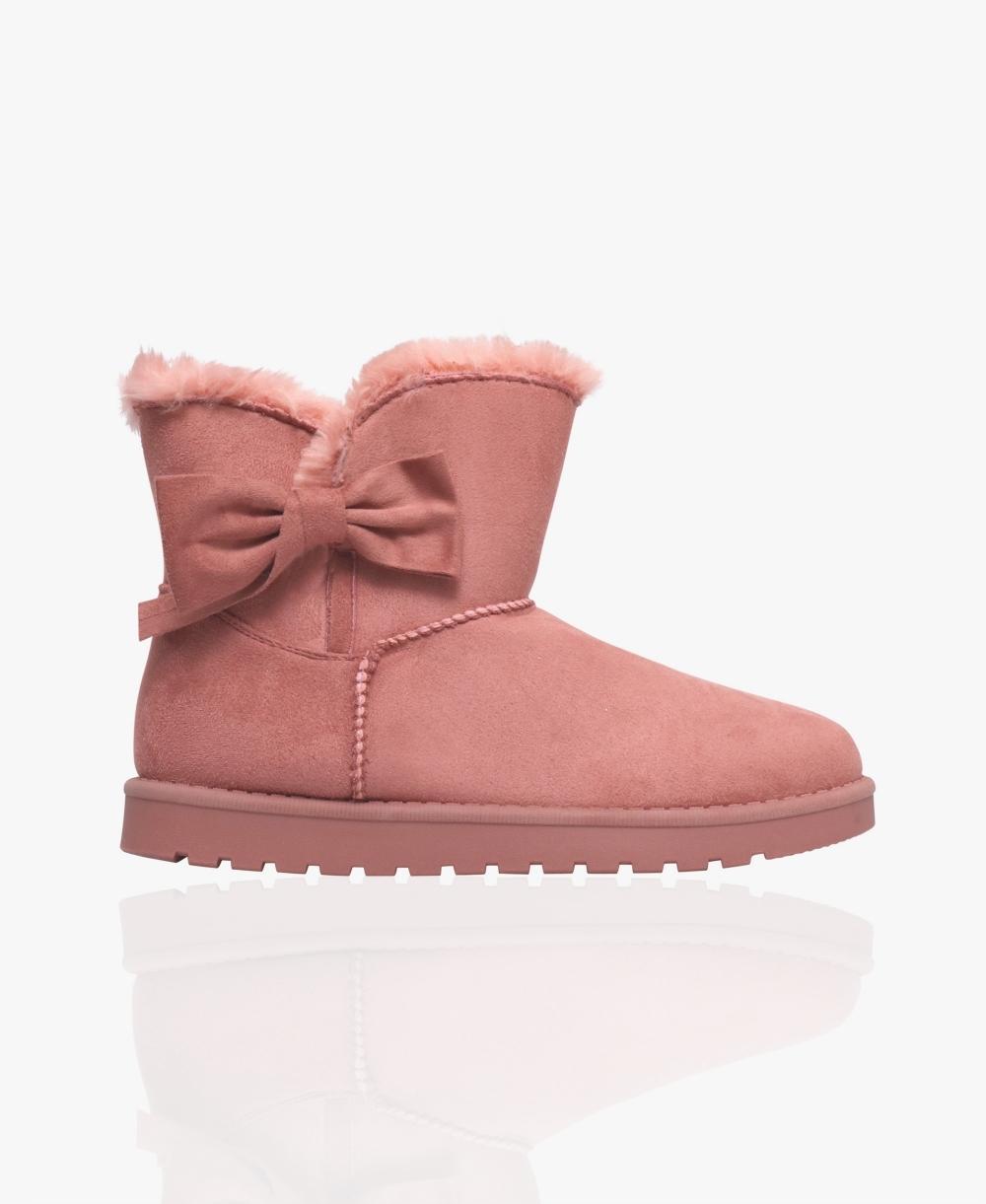 Side Bow Short Snug Boots   KRISP