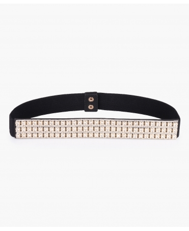 Silver/Gold Crystals Cinch Belt