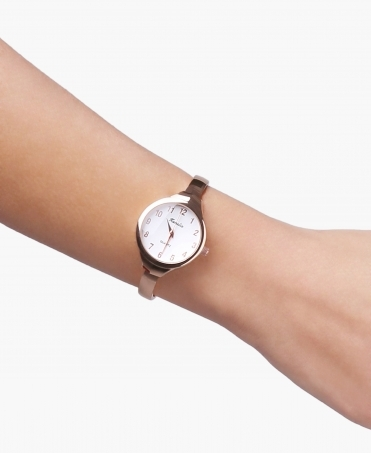 Slim Bangle Round Face Watch