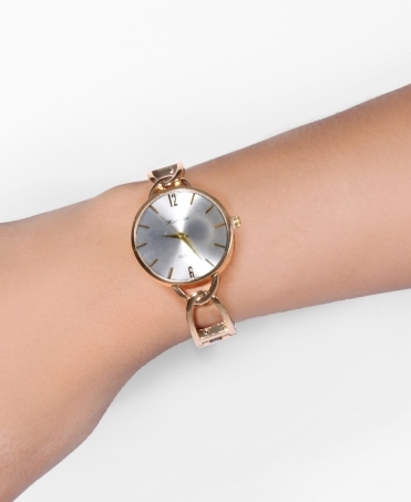 Slim Bracelet Round Face Watch