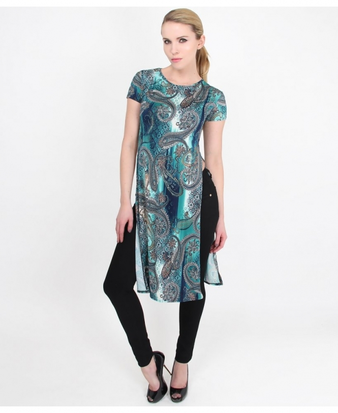 4ca4a040 KRISP Slit Sides Long Tunic Top - Womens from Krisp Clothing UK