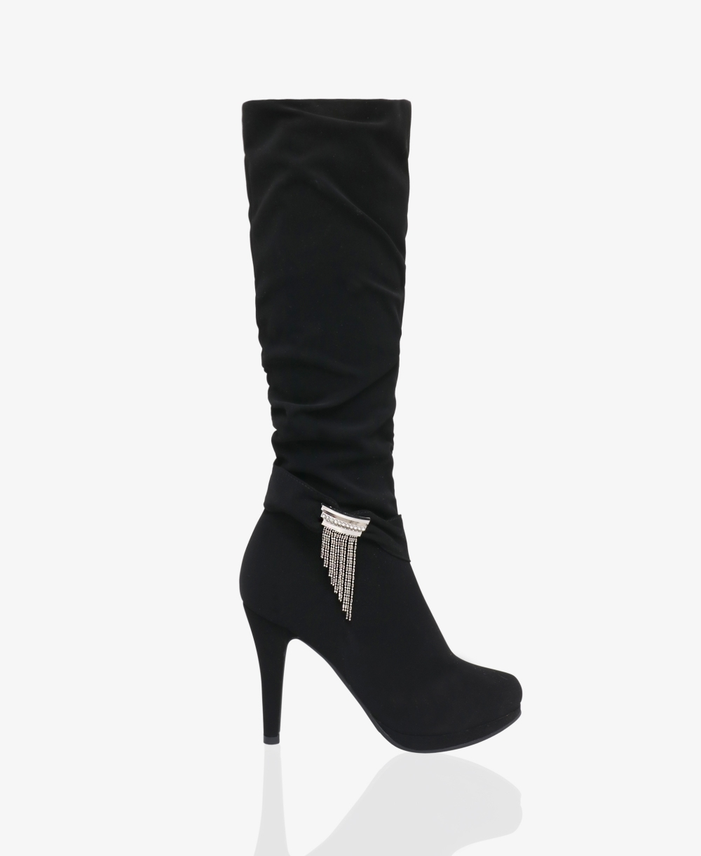 6a4f2da2e10 Slouchy Knee High Boots with Tassel