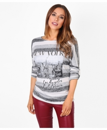 Soft Knit 'New York' Studded Jumper