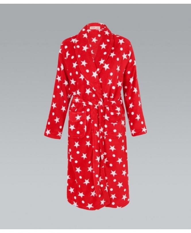 KRISP Star & Spot Print Dressing Gown - Womens from Krisp Clothing UK