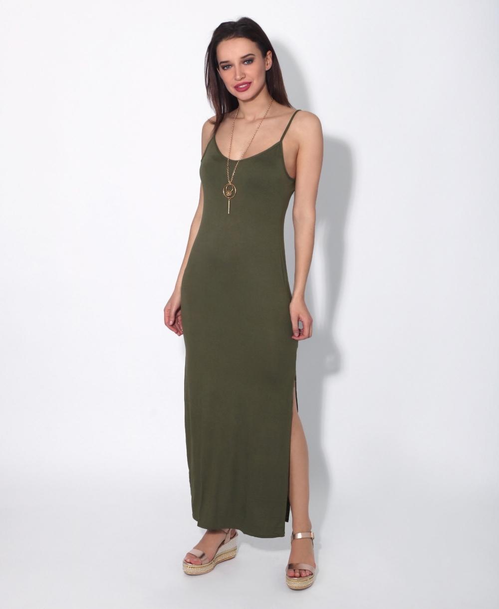 Jersey Maxi Jurk.Krisp Strappy Jersey Maxi Dress