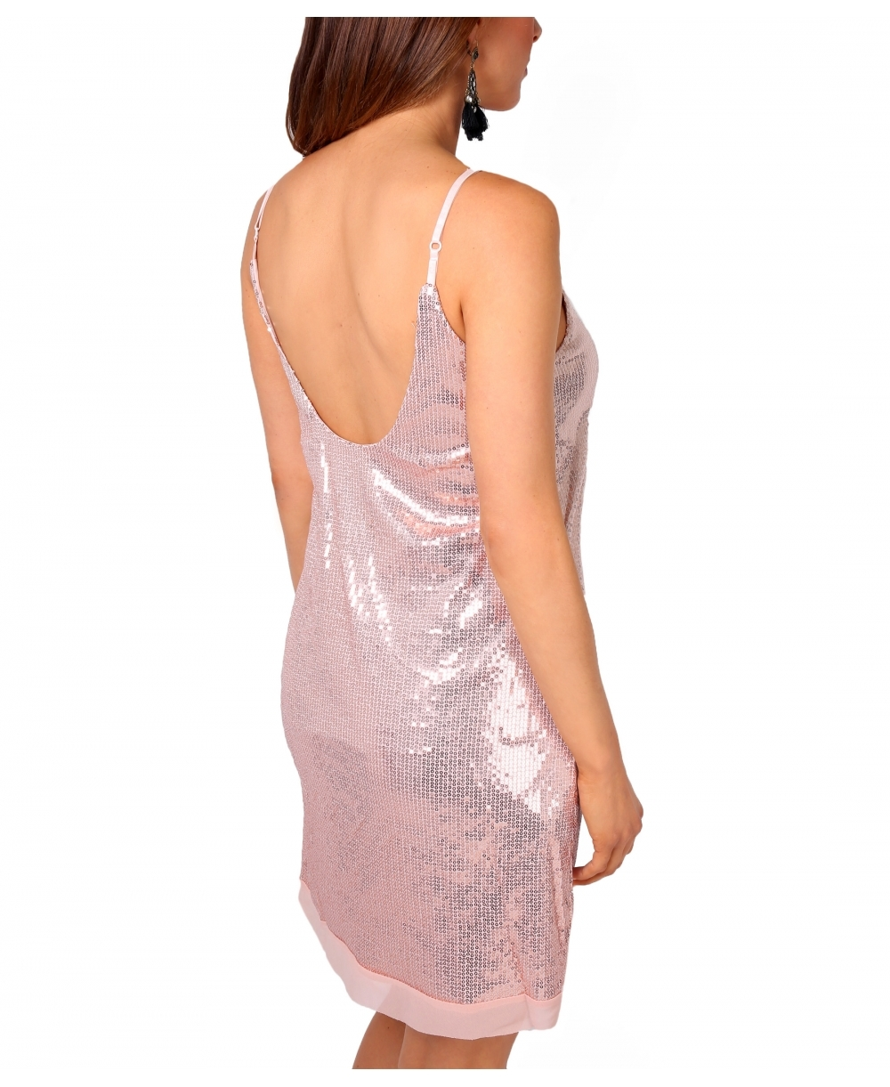25607724196c5 Dresses   Strappy Sequin Swing Tunic Dress   Krisp