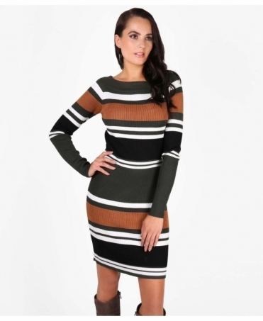Striped Mini Jumper Dress