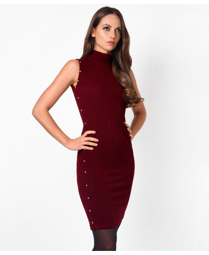 KRISP Studded Sleeveless Jumper Dress