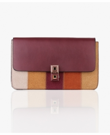 Suede Patchwork Cross-Body Bag