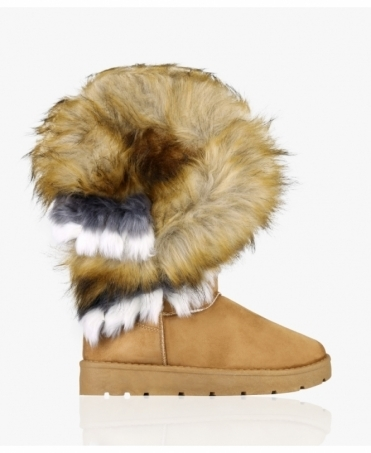 Tall Fur Cuff Snug Boots