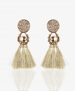 594cc282 KRISP Tassel Earrings with Glitter Top