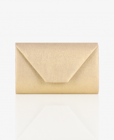 Textured Metallic Envelope Clutch Bag