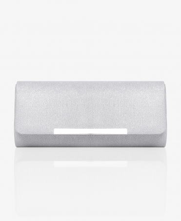 Textured Metallic Evening Clutch Bag