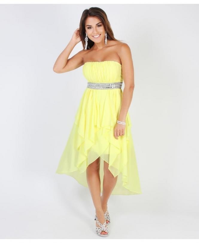 Asymmetrical, Pleated Chiffon Prom Dress from Krisp.co.uk