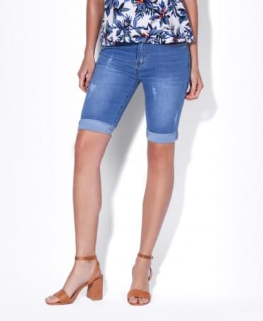 Turn-up Leg Cropped Skinny Jeans