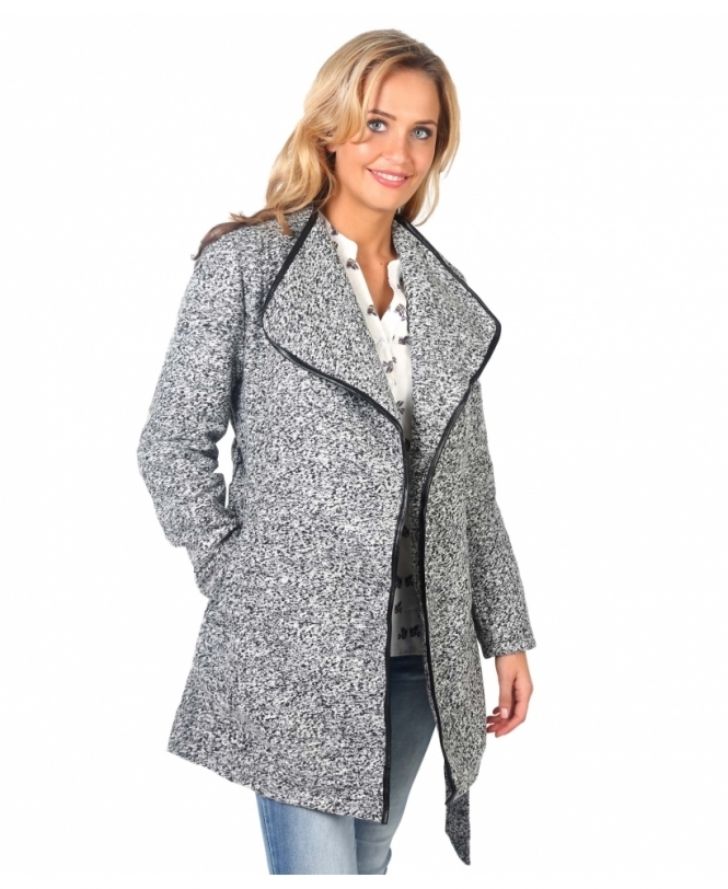 KRISP Two Tone Collared Woollen Coat
