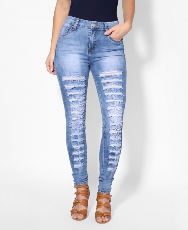 Ultra-Slim Fit Ripped Jeans