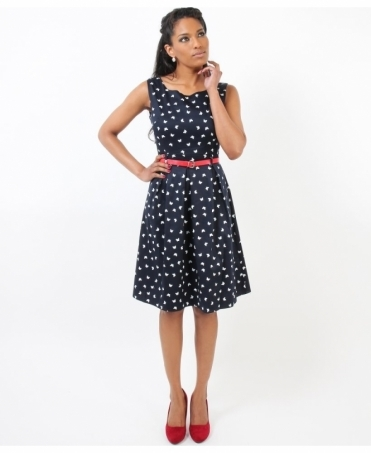 Vintage Pin Up Butterfly Dress