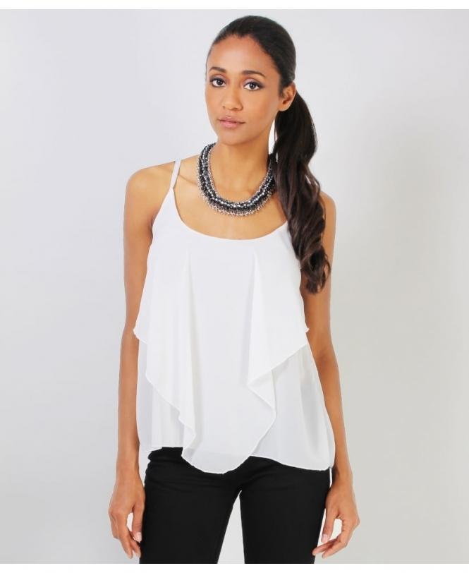 KRISP Waterfall Chiffon Strappy Blouse