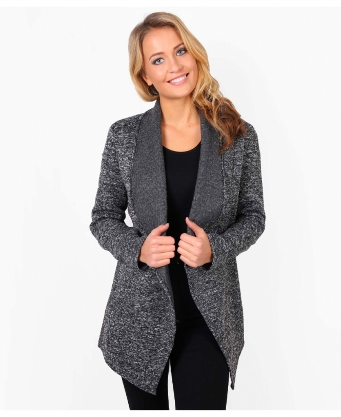 KRISP Waterfall Marl Duster Shrug