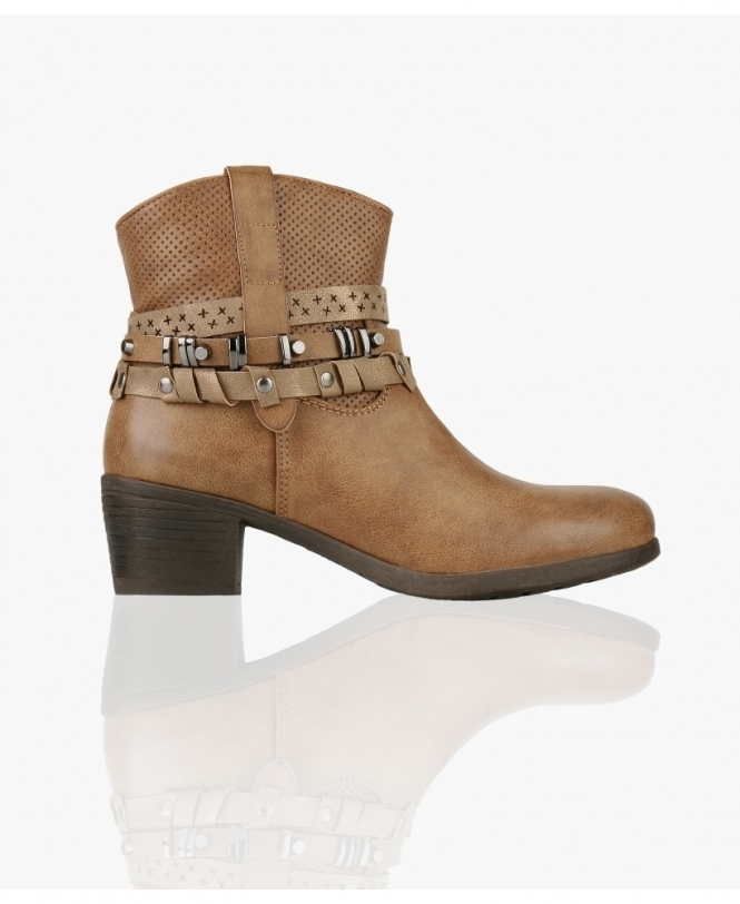 KRISP Western Boots with Ankle Straps