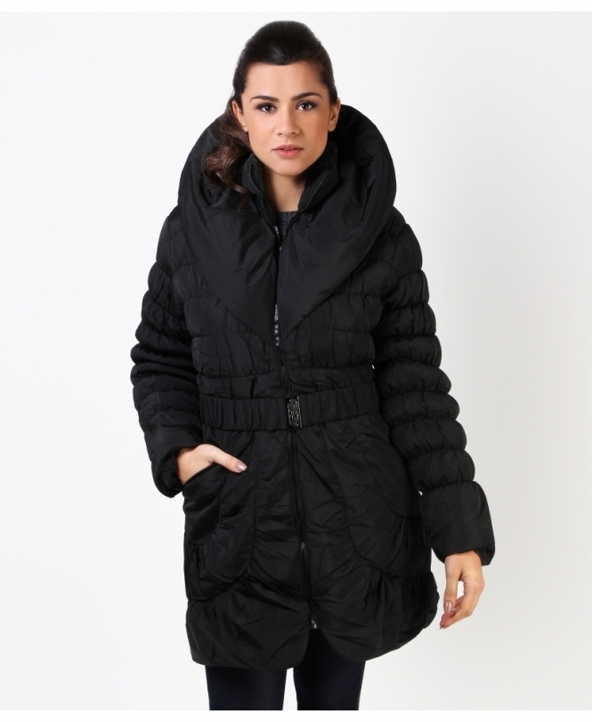 KRISP Wing Collar Quilted Puffa Jacket