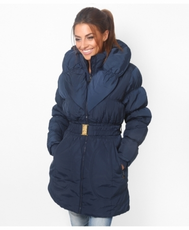 Wing Collar Quilted Puffer Coat