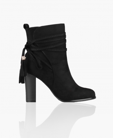 Wrap Ankle Block Heel Boots