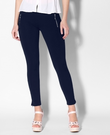 Zip Ankle Pencil Leg Trousers