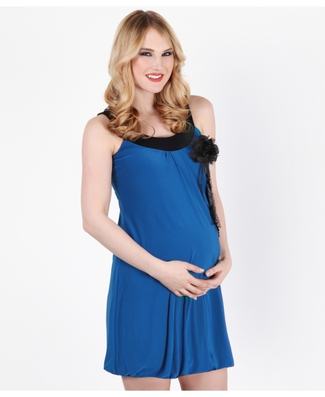MATERNITY Contrast Bubble Tunic Dress
