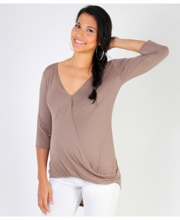 Twisted Front 3/4 Sleeve Top