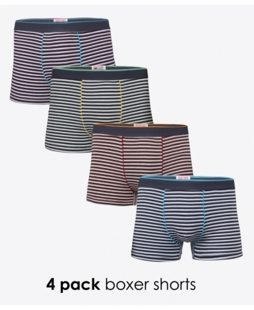 4 Pack Thin Stripe Boxer Shorts