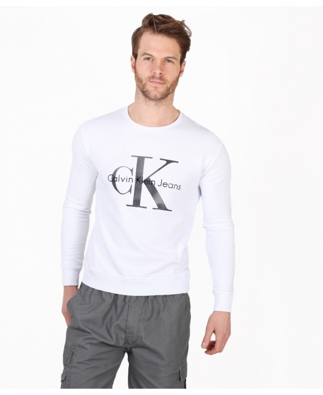 dd4454ba039 CALVIN KLEIN JEANS Logo Sweatshirt