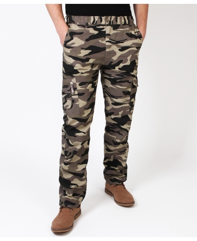 9433294d7f9db Mens Camouflage Army Combat Trousers | KRISP MENS
