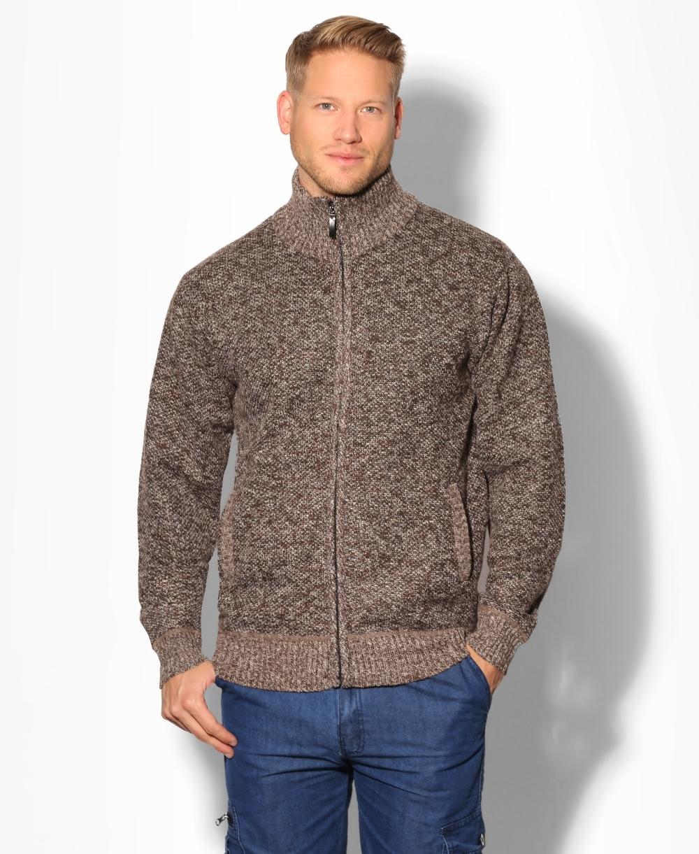 Mens Knitwear | Chunky Knit Zipped Cardigan | Krisp Mens